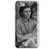 Dorothea Lange, Migrant mother (alternative), Nipomo, California, 1936 iPhone Case/Skin