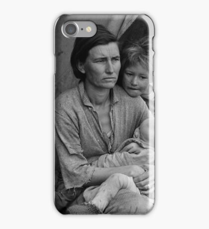 Dorothea Lange, Migrant mother (alternative), Nipomo, California, 1936 iPhone Case/Skin
