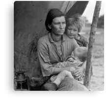 Dorothea Lange, Migrant mother (alternative), Nipomo, California, 1936 Metal Print