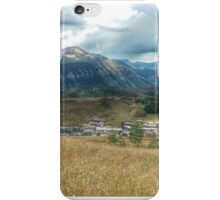 A town in Rocky mountain Bliss iPhone Case/Skin