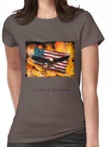 """Spirit of America"" Womens Fitted T-Shirt"