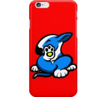 English Bull Terrier Kicking Back Blue and White iPhone Case/Skin