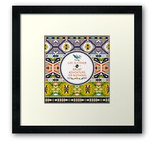 Seamless aztec pattern with geometric elements Framed Print
