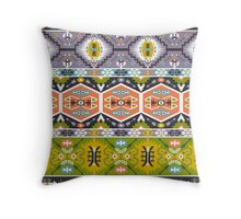 Seamless aztec pattern with geometric elements Throw Pillow