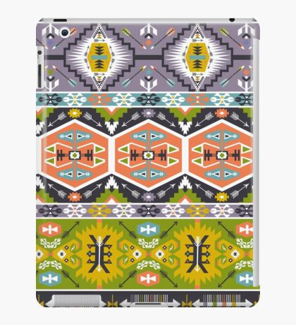 Seamless aztec pattern with geometric elements iPad Case/Skin