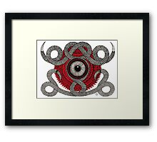 EP N°8 WHITE Framed Print