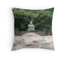 Crystal Buddah Throw Pillow