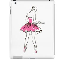 sketch of girl's ballerina  iPad Case/Skin