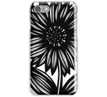 Ineffable Flowers Black and White iPhone Case/Skin