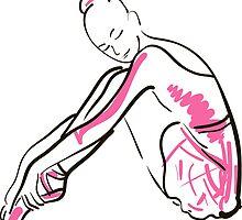 sketch of girl's ballerina  by OlgaBerlet