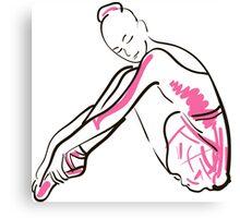 sketch of girl's ballerina  Canvas Print