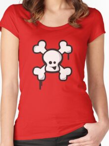 Happy Skull! Women's Fitted Scoop T-Shirt