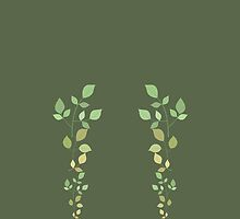 Sage green leggings with leaves by MercedesP