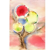 Abstract Tree Watercolors Photographic Print