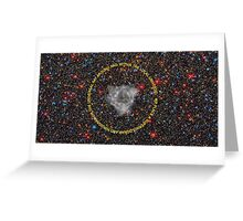 Universal Consciousness Hologram & Merkaba Greeting Card