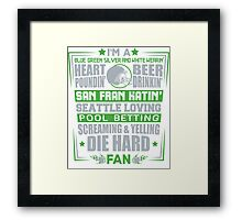 Die Hard Fan T-shirt Framed Print