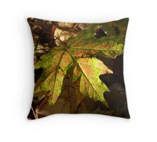 Grounded Maple Leaf Throw Pillow