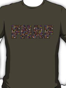 Five Nights at Freddy's - Pixel art - FNAF typography (Black BG) T-Shirt