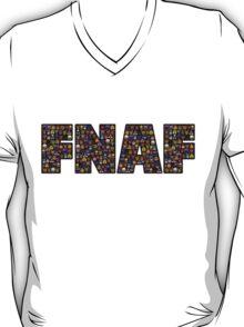 Five Nights at Freddys - Pixel art - FNAF typography (Black BG) T-Shirt