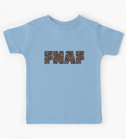 Five Nights at Freddys - Pixel art - FNAF typography (Black BG) Kids Tee