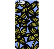Ambrosia Flowers Blue Yellow Black iPhone Case/Skin