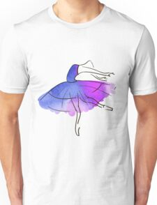 ballerina figure, watercolor Unisex T-Shirt