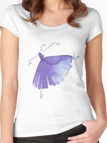 ballerina figure, watercolor Women's Fitted Scoop T-Shirt