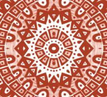 The Red Moroccan Pattern Sticker