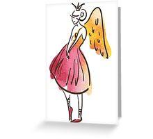 ballerina figure, watercolor Greeting Card