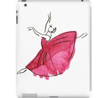 ballerina figure, watercolor iPad Case/Skin