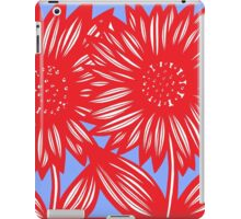 Effusive Flowers Red Blue White iPad Case/Skin