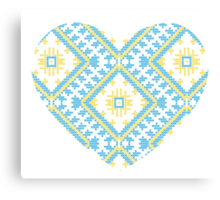 Ukrainian national ornaments Canvas Print