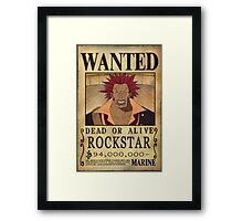 Wanted Rockstar - One Piece Framed Print