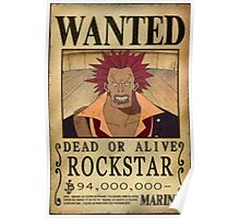 Wanted Rockstar - One Piece Poster