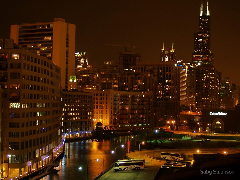 CHICAGO BY NIGHT by Gaby Swanson