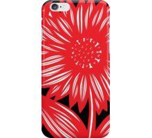 Enceinte Flowers Red White Black iPhone Case/Skin