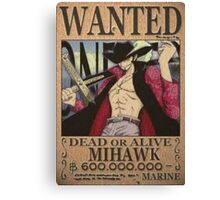 Wanted Mihawk - One Piece Canvas Print