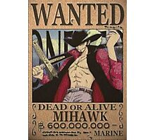 Wanted Mihawk - One Piece Photographic Print
