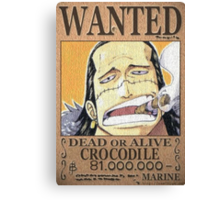 Wanted Crocodile - One Piece Canvas Print