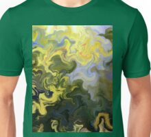 abstract, green, blue, nature, water, reflection, impressionist, Unisex T-Shirt