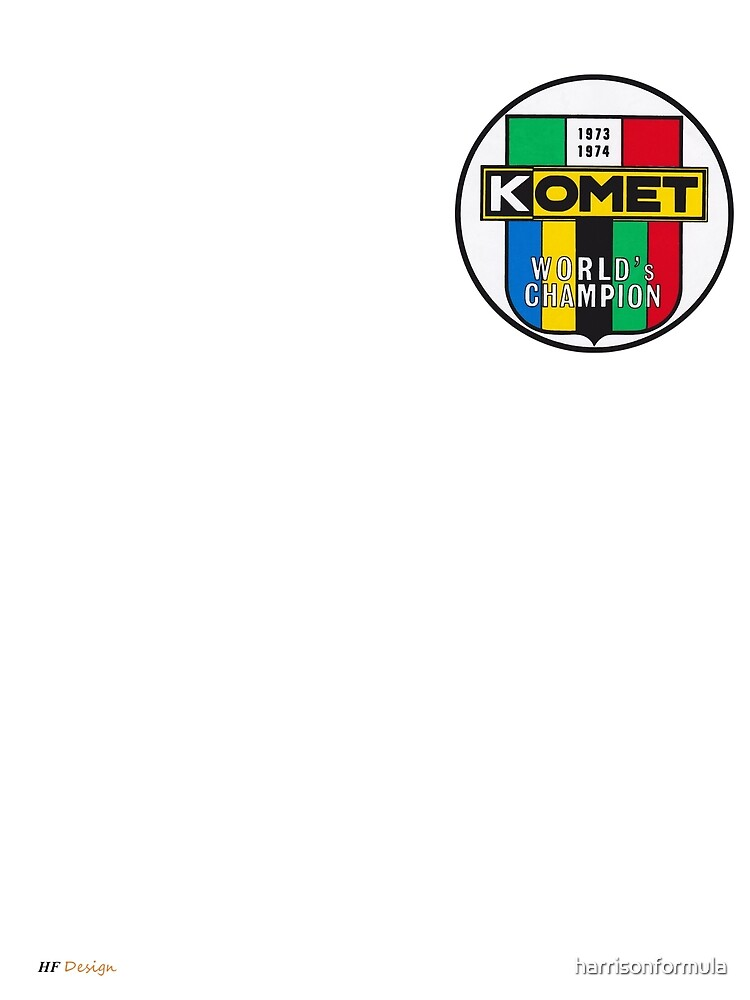 Komet Vintage Kart Engine Logo by harrisonformula