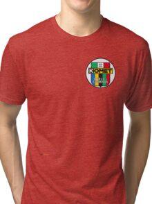 Komet Vintage Kart Engine Logo Tri-blend T-Shirt