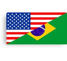 usa brazil Canvas Print