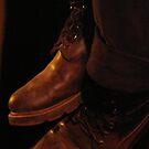 Martin Pearson's boots by Marina Hurley