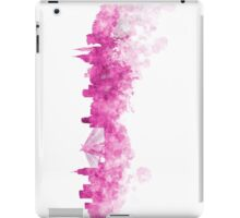 Sao Paulo skyline in pink watercolor on white background iPad Case/Skin