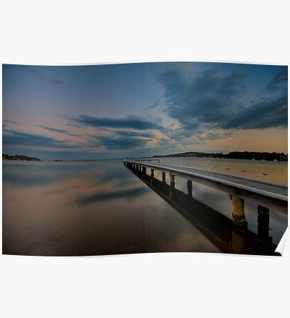 Acadia Vale Jetty at Dusk Poster