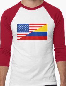 usa colombia Men's Baseball ¾ T-Shirt