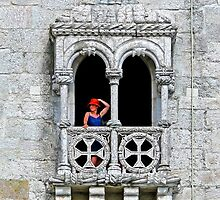 Belém Lady with a red hat. Torre de Belém. by terezadelpilar~ art & architecture