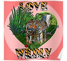LOVE WILDLY (pink) Poster