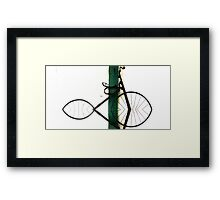 Abstract in Geometric Velocipede  Framed Print